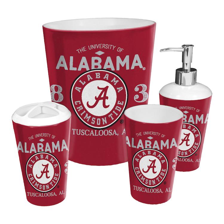 Alabama Crimson Tide 4 Piece Bathroom Accessory Set Buy