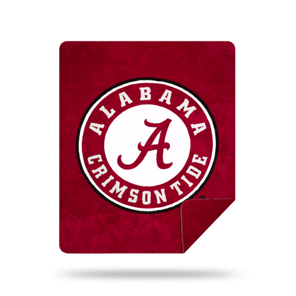 Alabama Crimson Tide DENALI Silver Knit Throw