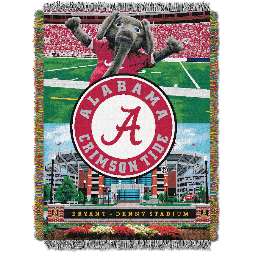 Alabama Crimson Tide Home Field Advantage Series Tapestry Blanket 48 x 60