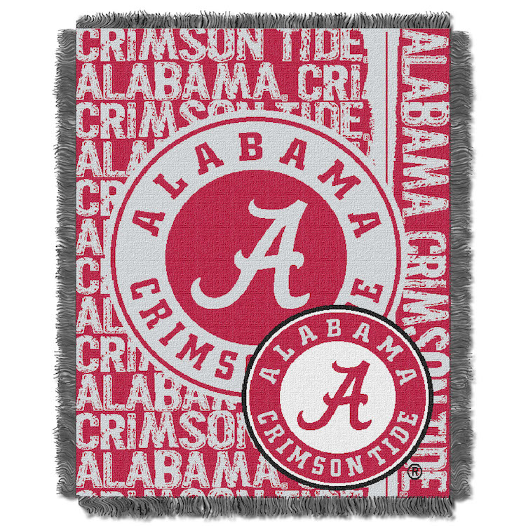 Alabama Crimson Tide Double Play Tapestry Blanket 48 x 60