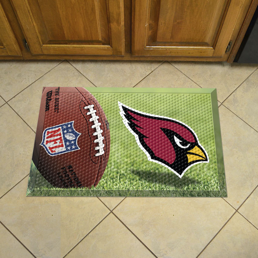 Arizona Cardinals Ball Style SCRAPER Door Mat