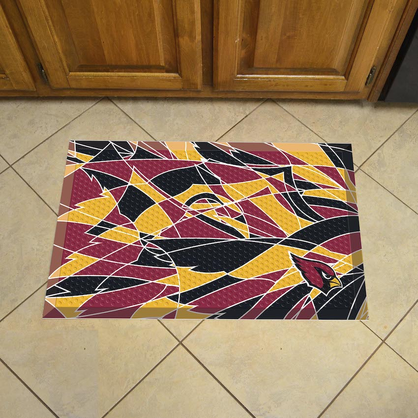 Arizona Cardinals Quick Snap Style SCRAPER Door Mat