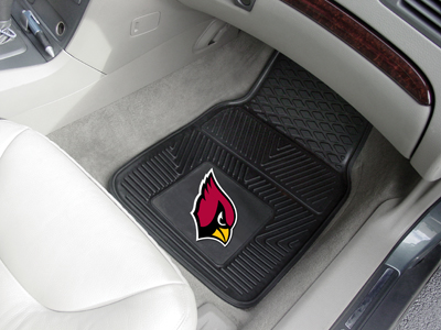Arizona Cardinals Car Floor Mats 18 x 27 Heavy Duty Vinyl Pair
