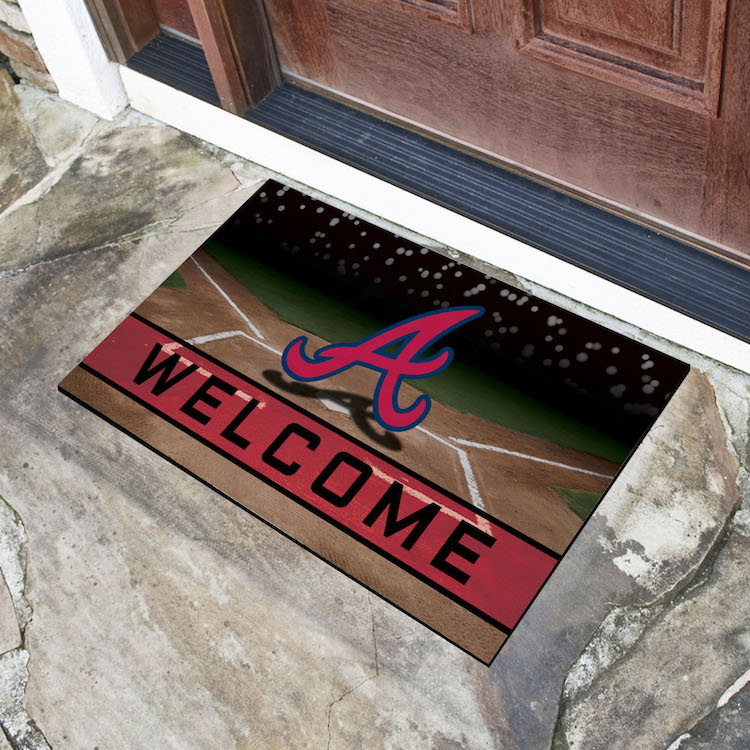 Atlanta Braves Recycled Crumb Rubber Door Mat
