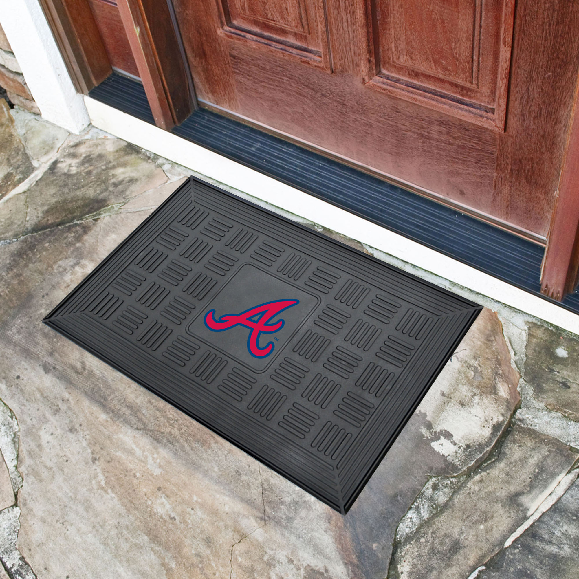 Atlanta Braves MEDALLION Vinyl Door Mat