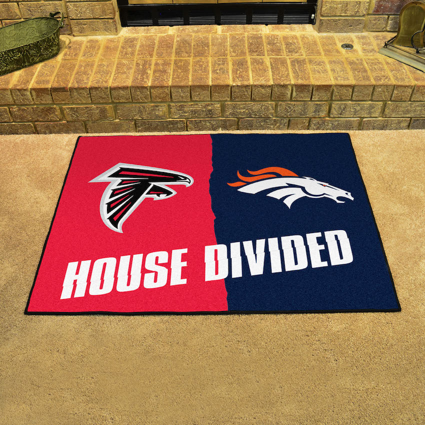 NFL House Divided Rivalry Rug Atlanta Falcons - Denver Broncos