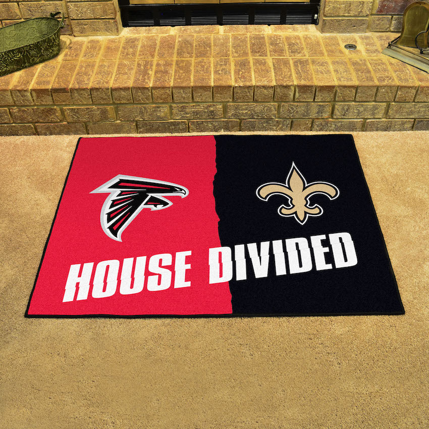 NFL House Divided Rivalry Rug Atlanta Falcons - New Orleans Saints