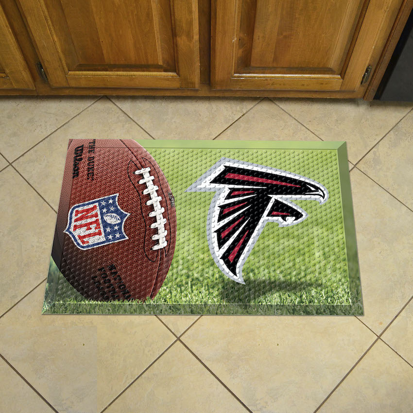 Atlanta Falcons Ball Style SCRAPER Door Mat