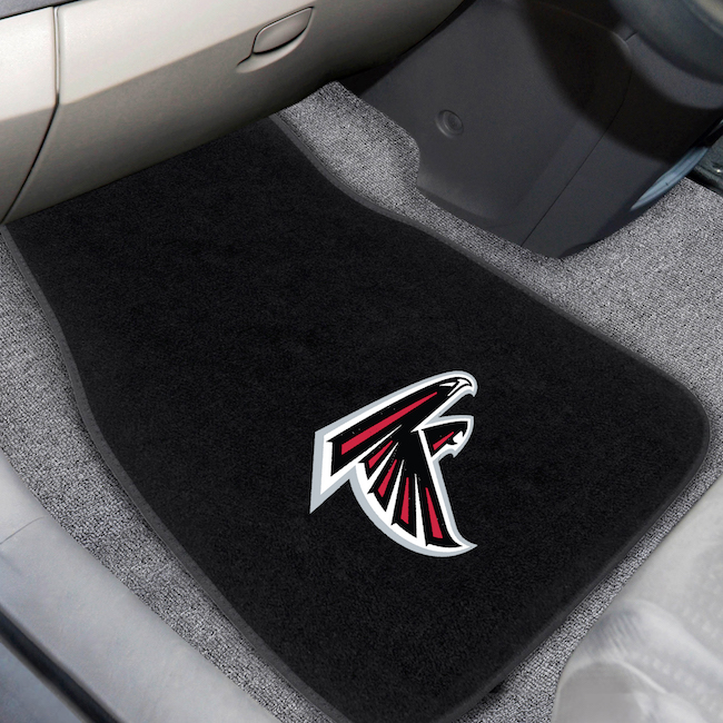 Atlanta Falcons Car Floor Mats 17 x 26 Embroidered Pair
