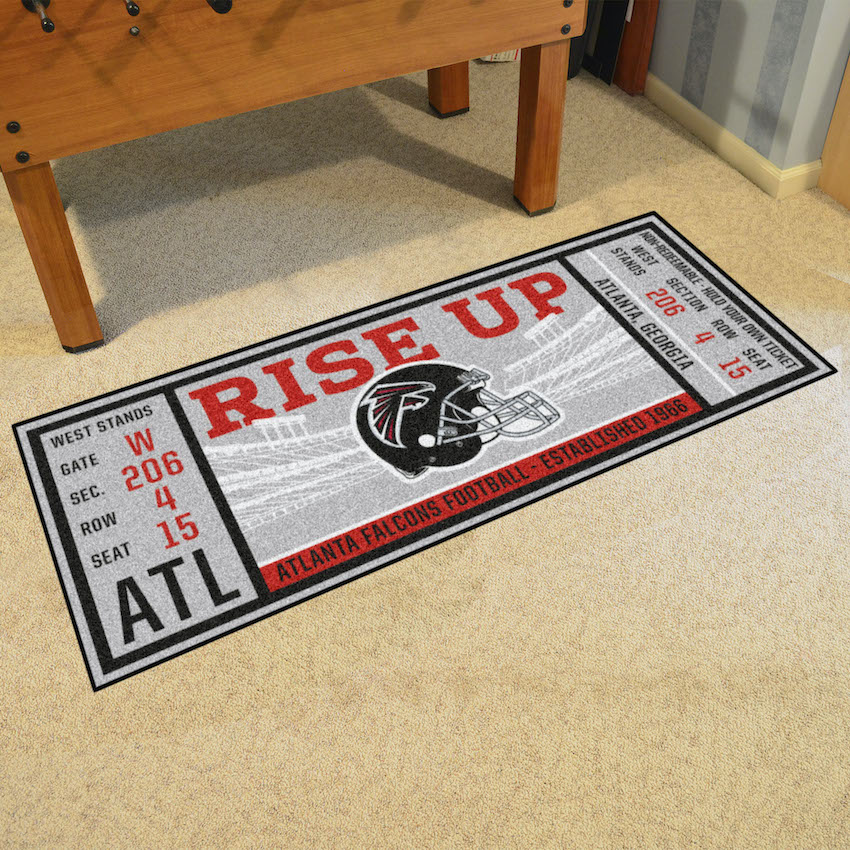 Atlanta Falcons 30 x 72 Game Ticket Carpet Runner