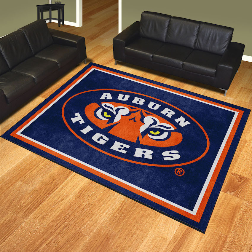 Auburn Tigers Ultra Plush 8x10 Area Rug