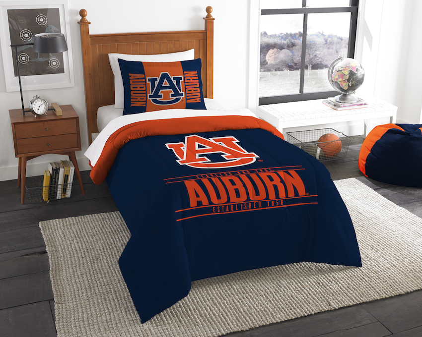 Auburn Tigers Twin Comforter Set with Sham