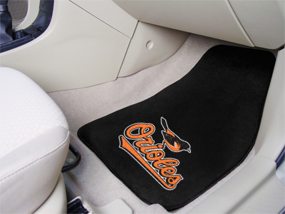 Baltimore Orioles Car Floor Mats 18 x 27 Carpeted-Pair