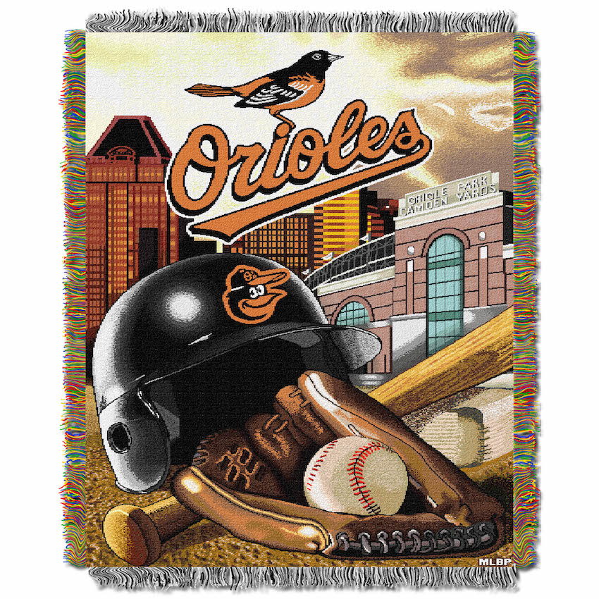 Baltimore Orioles Home Field Advantage Series Tapestry Blanket 48 x 60