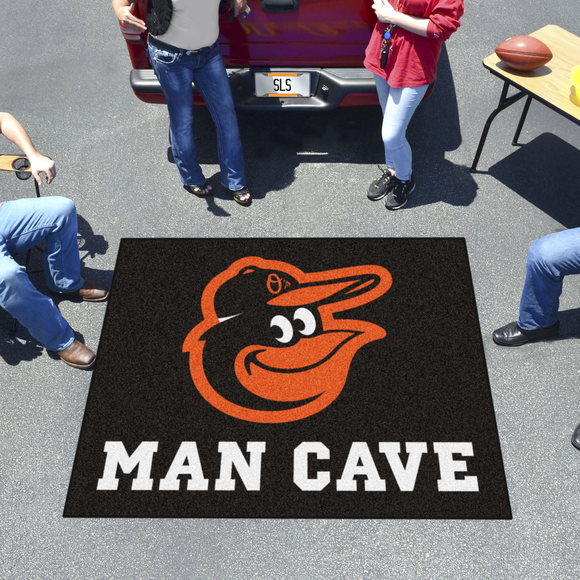 Baltimore Orioles MAN CAVE TAILGATER 60 x 72 Rug