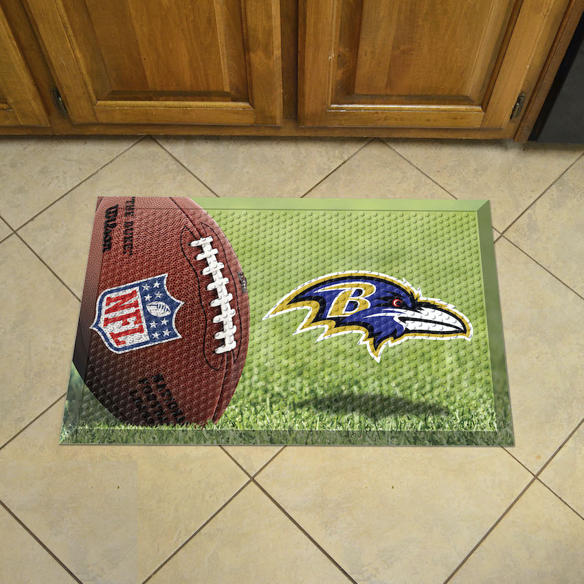 Baltimore Ravens Ball Style SCRAPER Door Mat