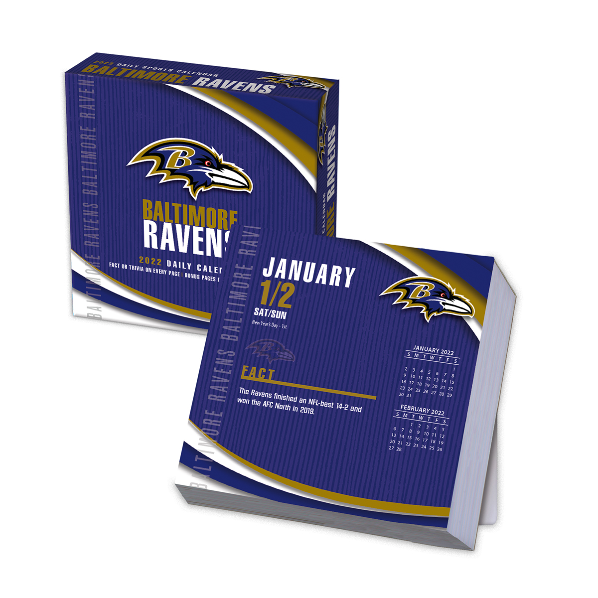 Baltimore Ravens 2018 Nfl Page A Day Box Calendar Buy At