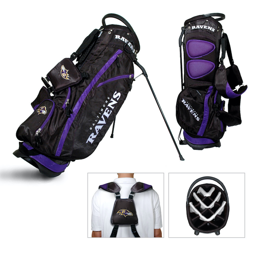 Baltimore Ravens Fairway Carry Stand Golf Bag