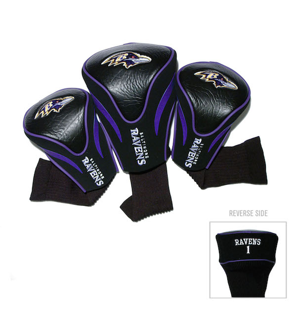Baltimore Ravens 3 Pack Contour Headcovers