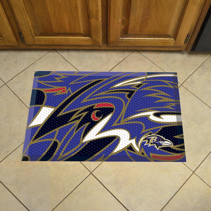 Baltimore Ravens Quick Snap Style SCRAPER Door Mat