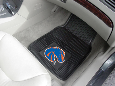 Boise State Broncos Car Floor Mats 18 x 27 Heavy Duty Vinyl Pair