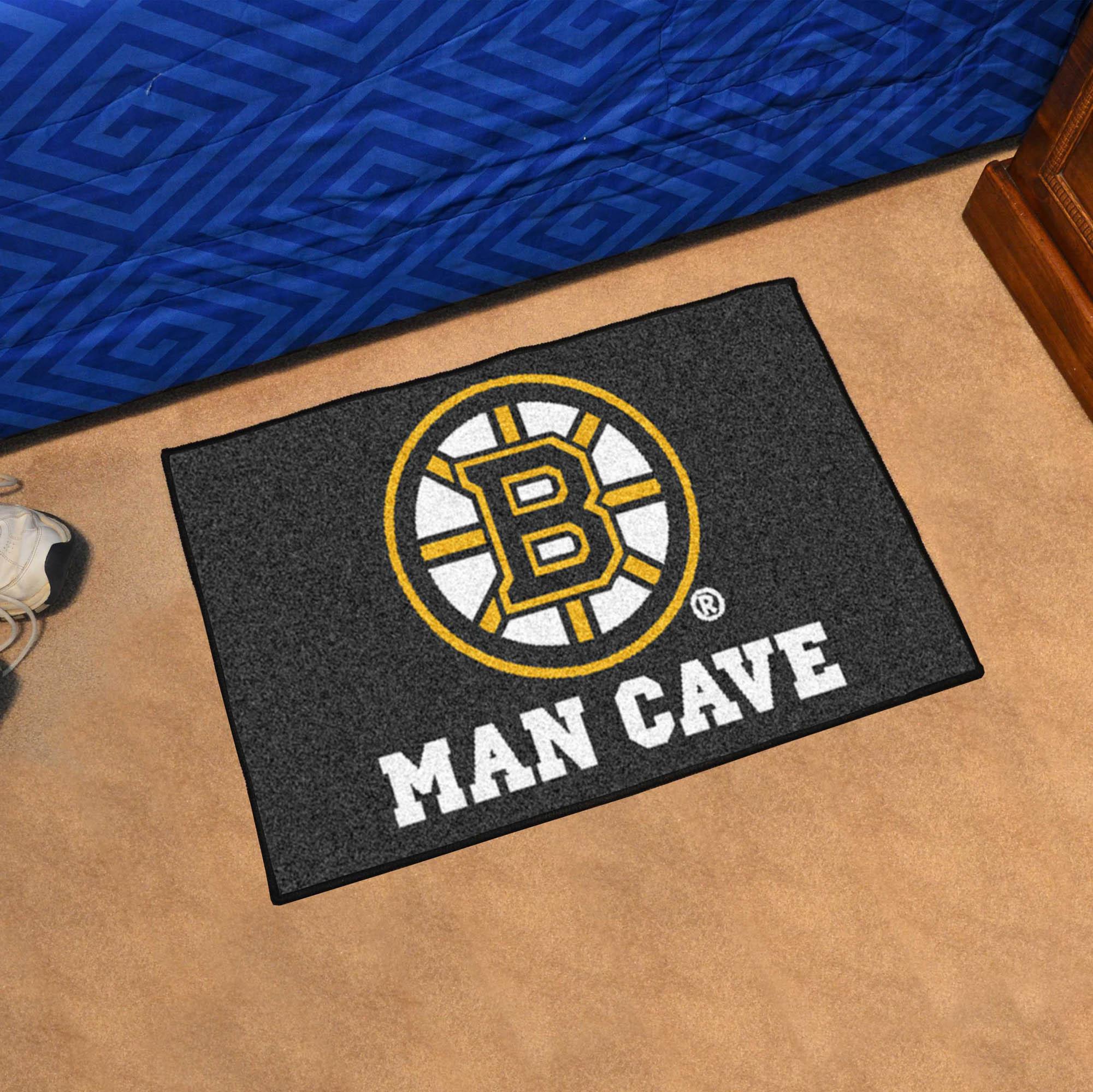 Boston Bruins Man Cave 20 X 30 Starter Floor Mat