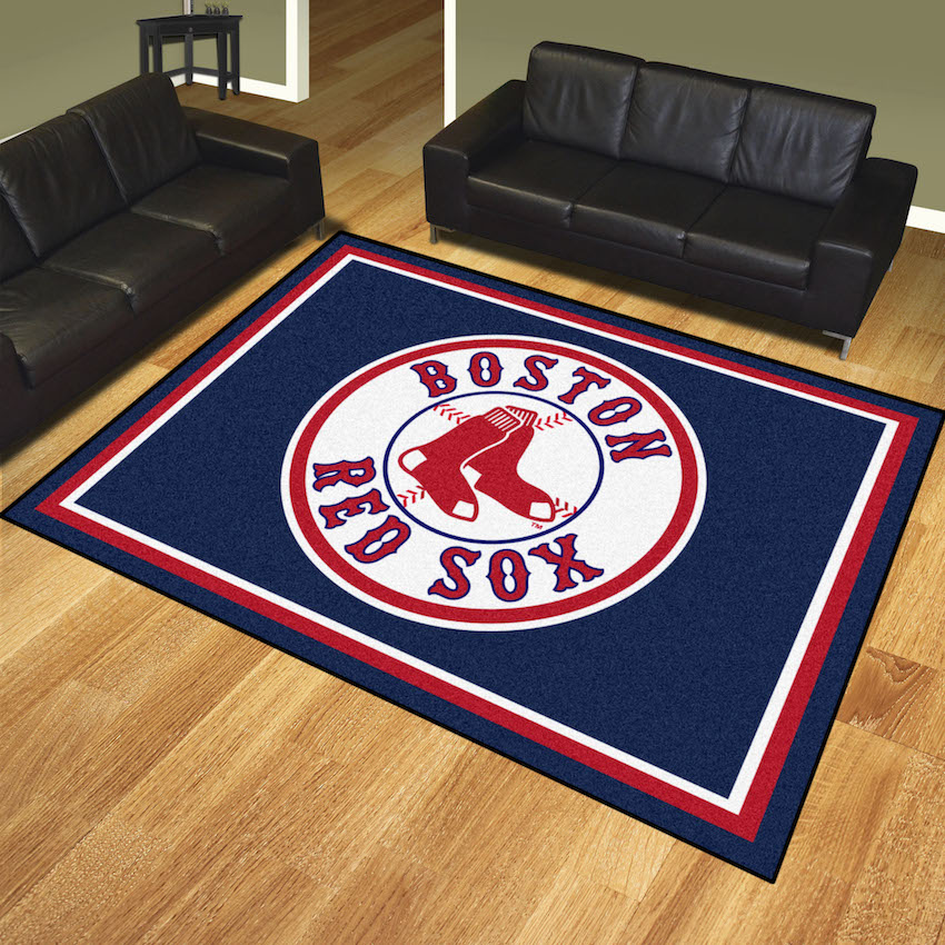 Boston Red Sox Ultra Plush 8x10 Area Rug
