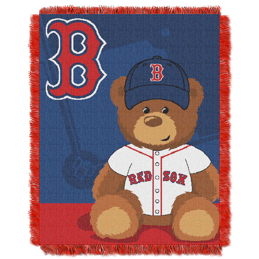 Boston Red Sox Woven Baby Blanket 36 x 48