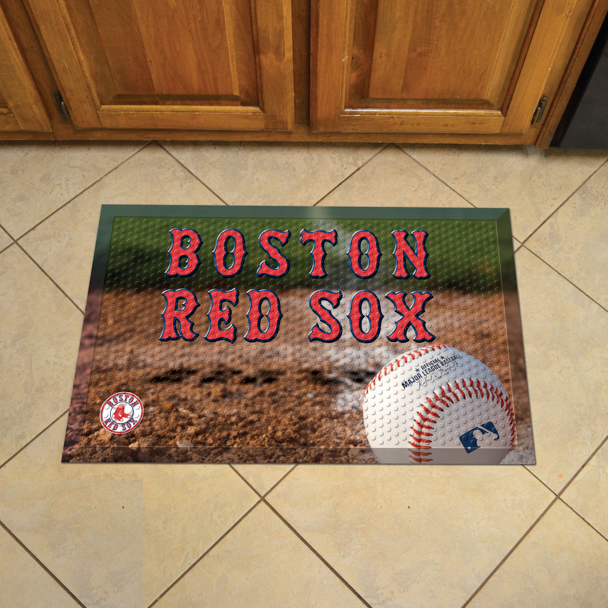 Boston Red Sox Ball Style SCRAPER Door Mat