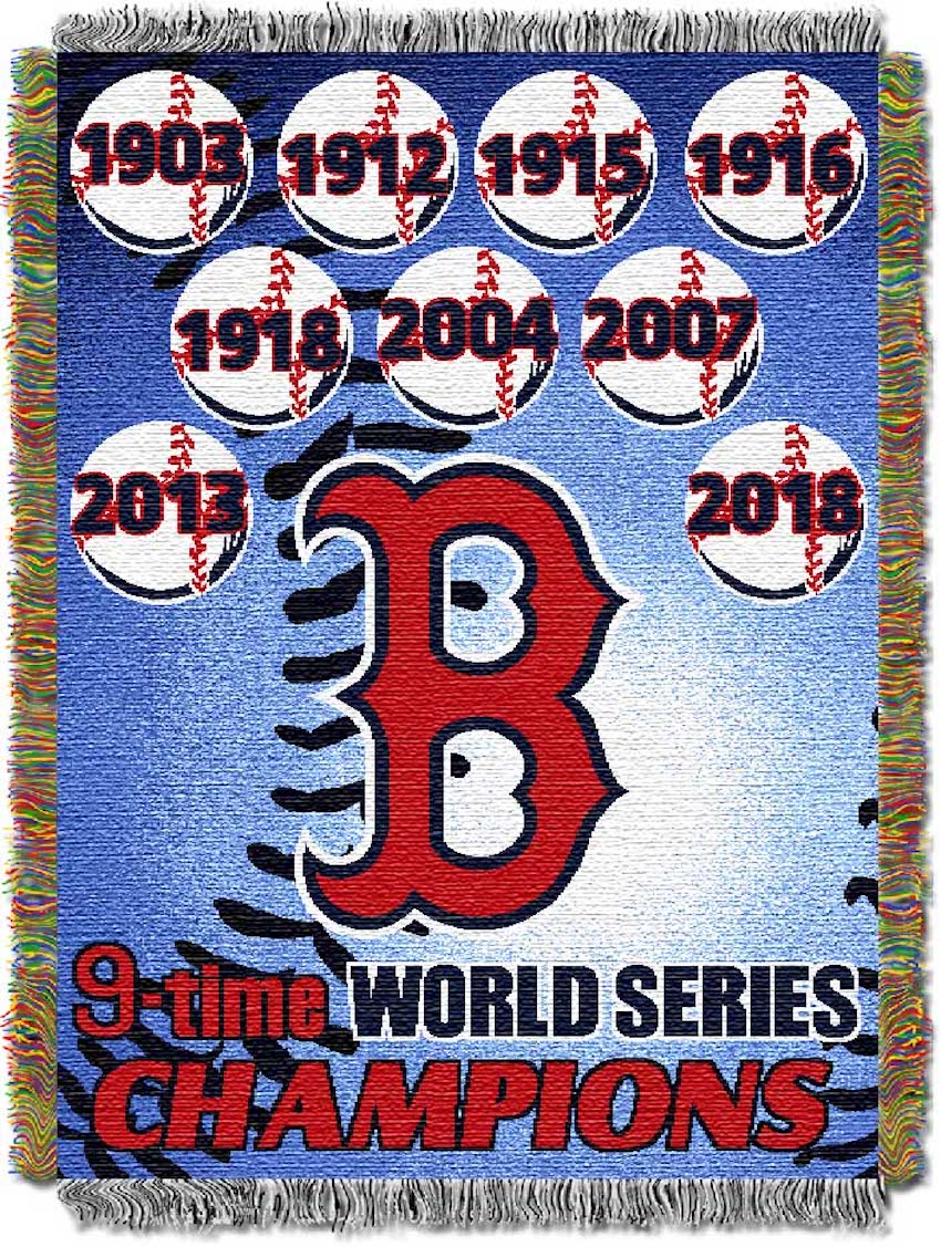 Boston Red Sox Commemorative World Series Tapestry Throw