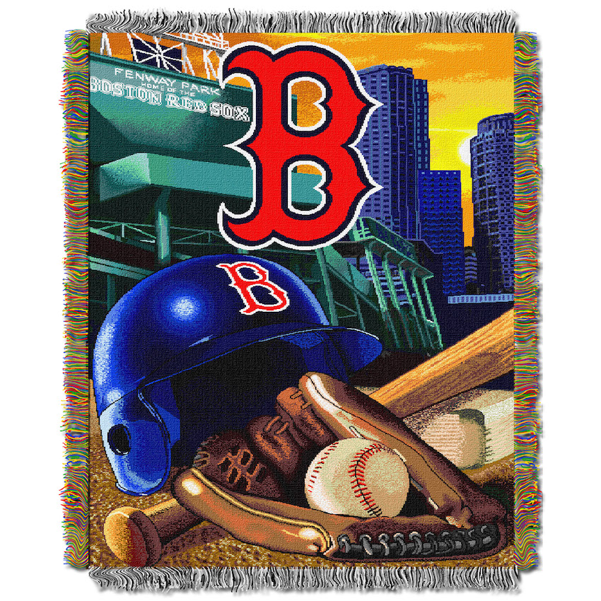 Boston Red Sox Home Field Advantage Tapestry Blanket 48 X