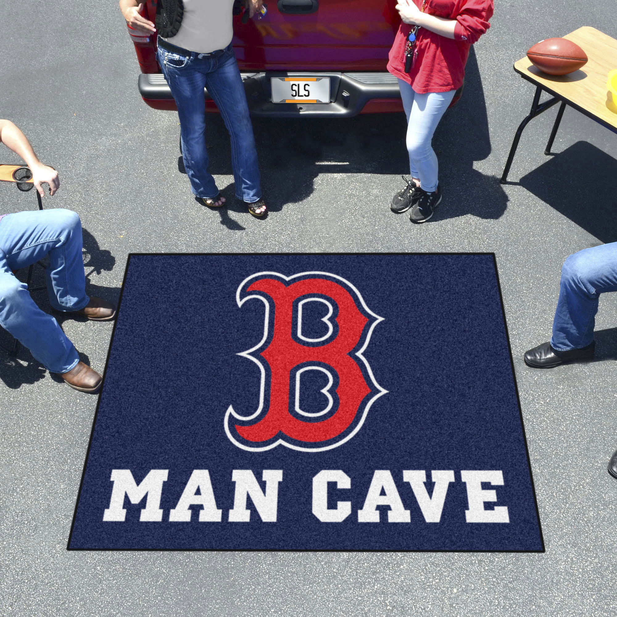 Boston Red Sox MAN CAVE TAILGATER 60 x 72 Rug