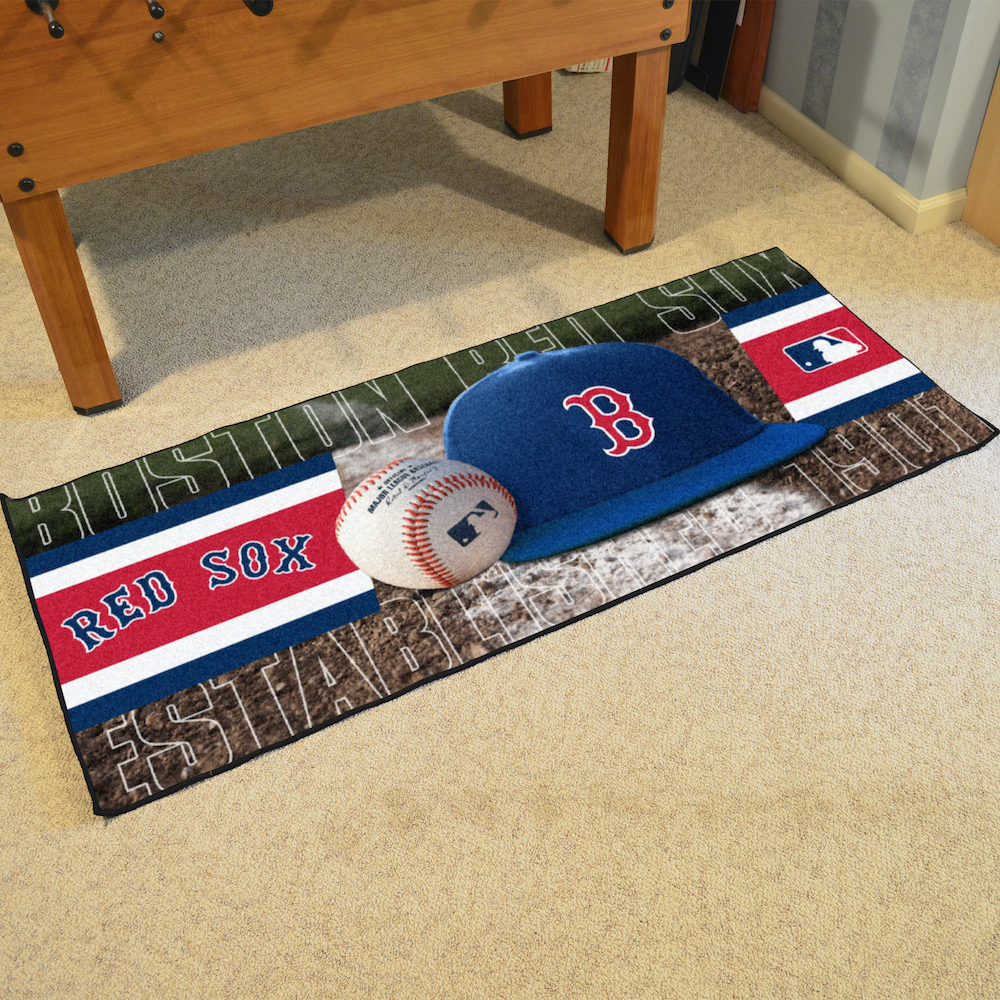 Boston Red Sox 30 x 72 Baseball Carpet Runner