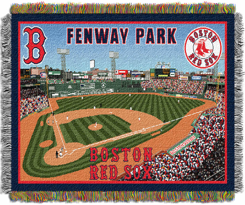 New Warriors Stadium Inside: Boston Red Sox Stadium Tapestry Blanket 48 X 60