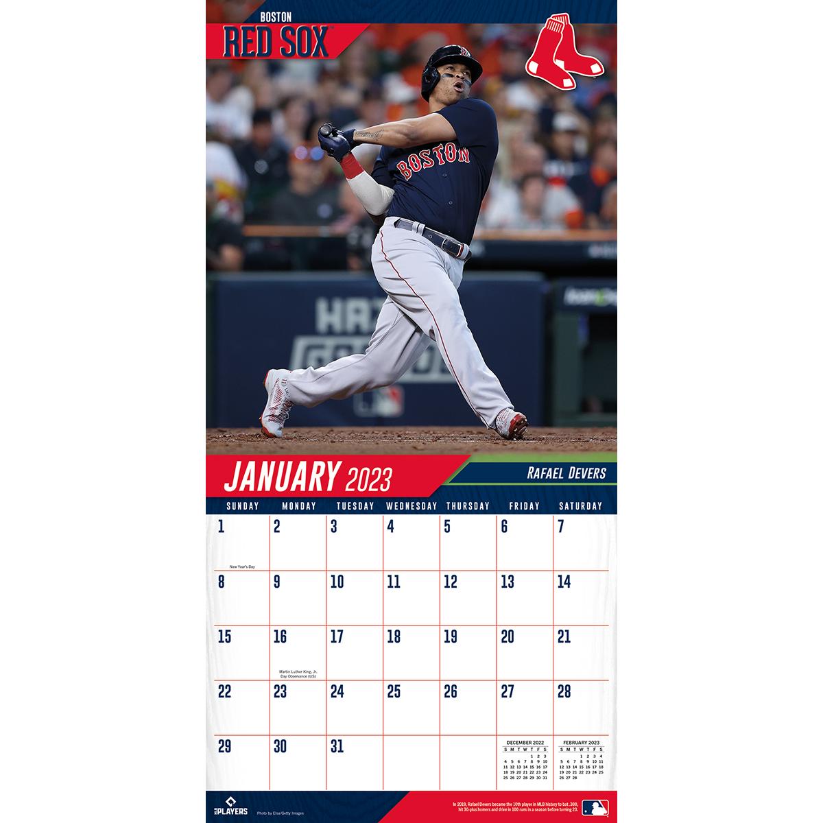 Boston Red Sox 2018 Mini Wall Calendar Buy At Khc Sports