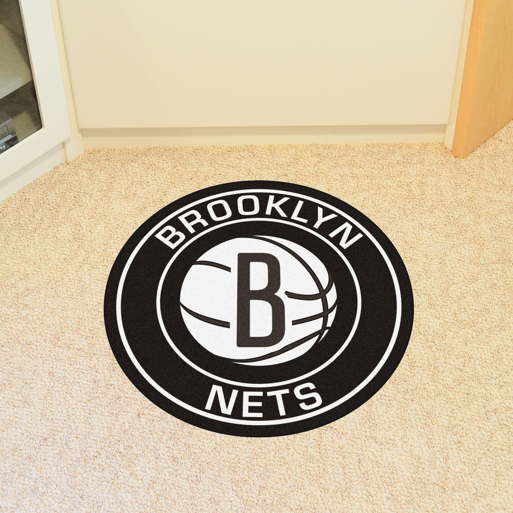 Brooklyn Nets Roundel Mat Buy At Khc Sports