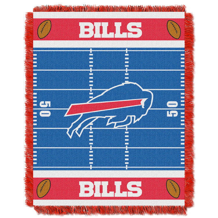 Buffalo Bills Woven Baby Blanket 36 x 48