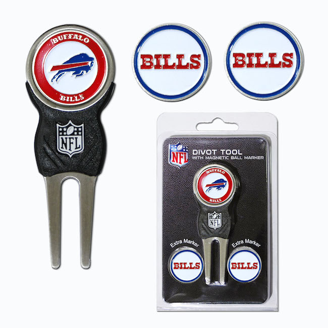 Buffalo Bills 3 Marker Signature Divot Tool Pack