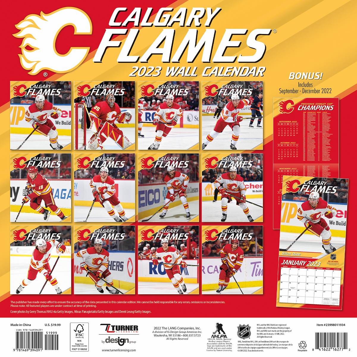 Calgary Flames 2018 Nhl Wall Calendar Buy At Khc Sports