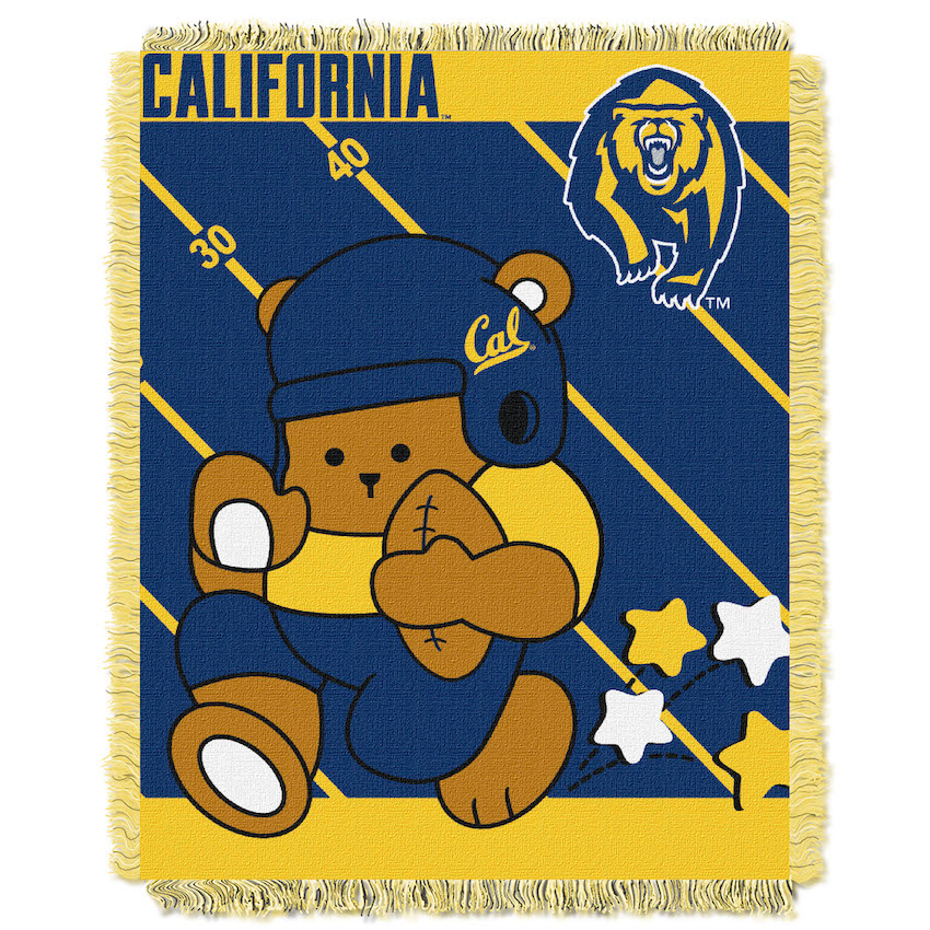 California Golden Bears Woven Baby Blanket 36 x 48