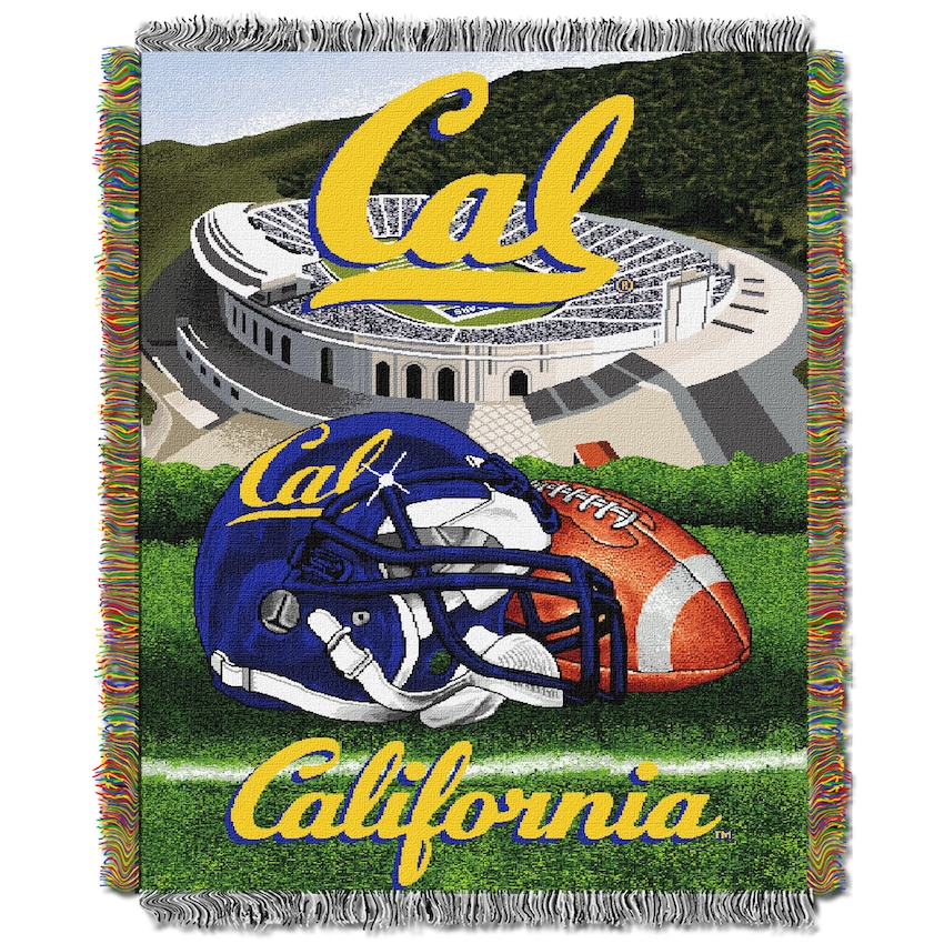 California Golden Bears Home Field Advantage Series Tapestry Blanket 48 x 60