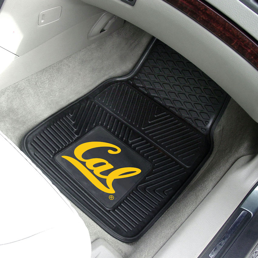 California Golden Bears Car Floor Mats 18 x 27 Heavy Duty Vinyl Pair