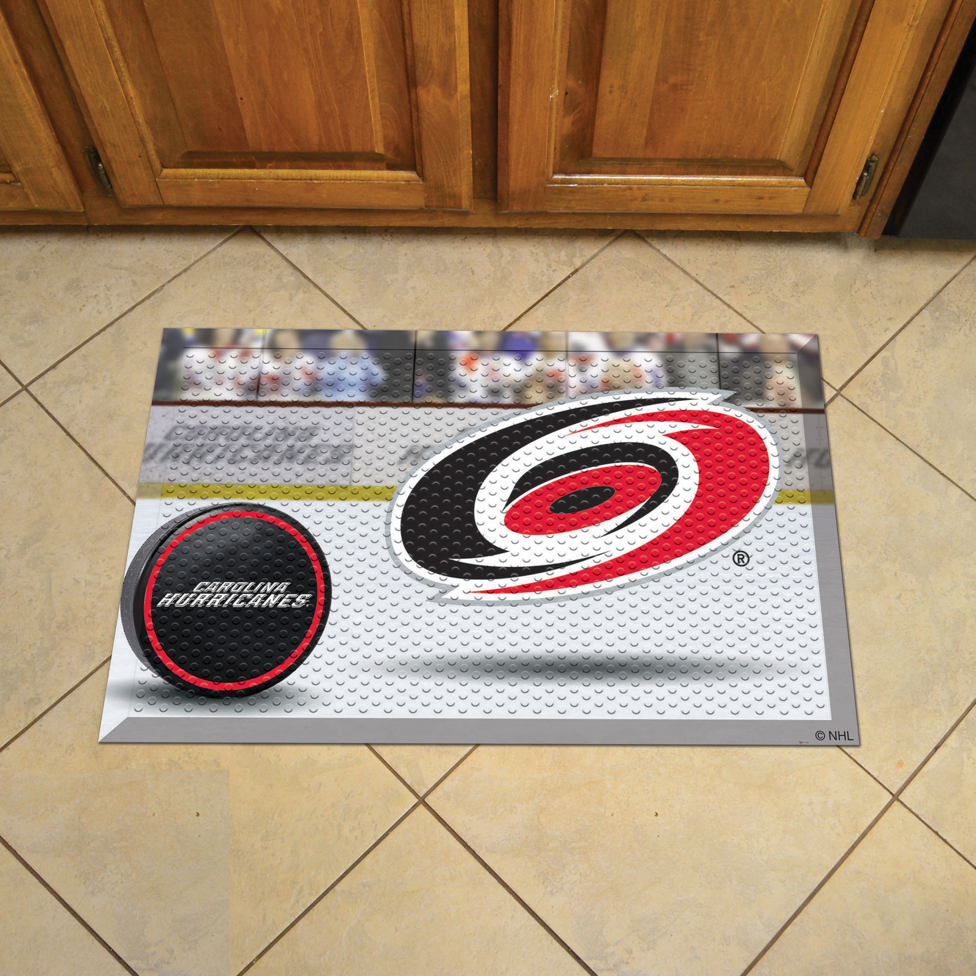 Carolina Hurricanes Puck Style SCRAPER Door Mat
