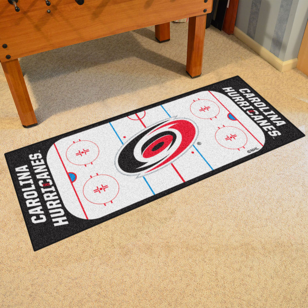 Carolina Hurricanes 30 x 72 Hockey Rink Carpet Runner