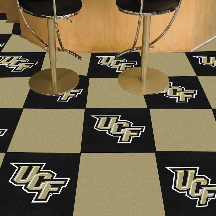 Central Florida Knights Carpet Tiles 18x18 in.