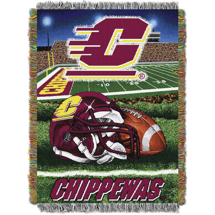 Central Michigan Chippewas Home Field Advantage Series Tapestry Blanket 48 x 60