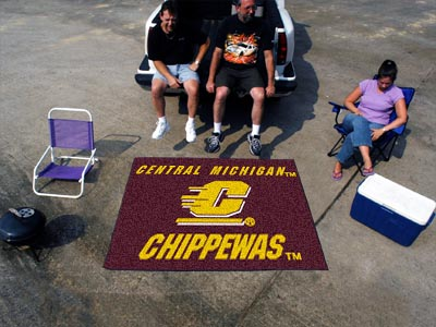 Central Michigan Chippewas TAILGATER 60 x 72 Rug