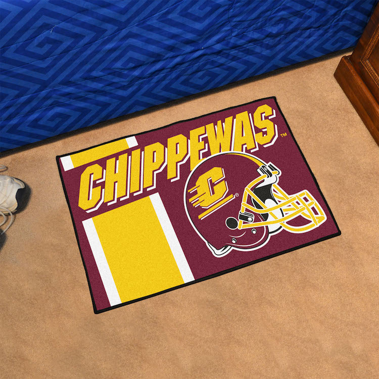 Central Michigan Chippewas 20 x 30 Uniform STARTER Floor Mat