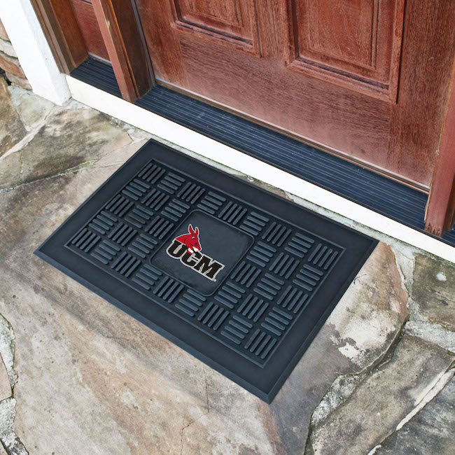Central Missouri Mules MEDALLION Vinyl Door Mat