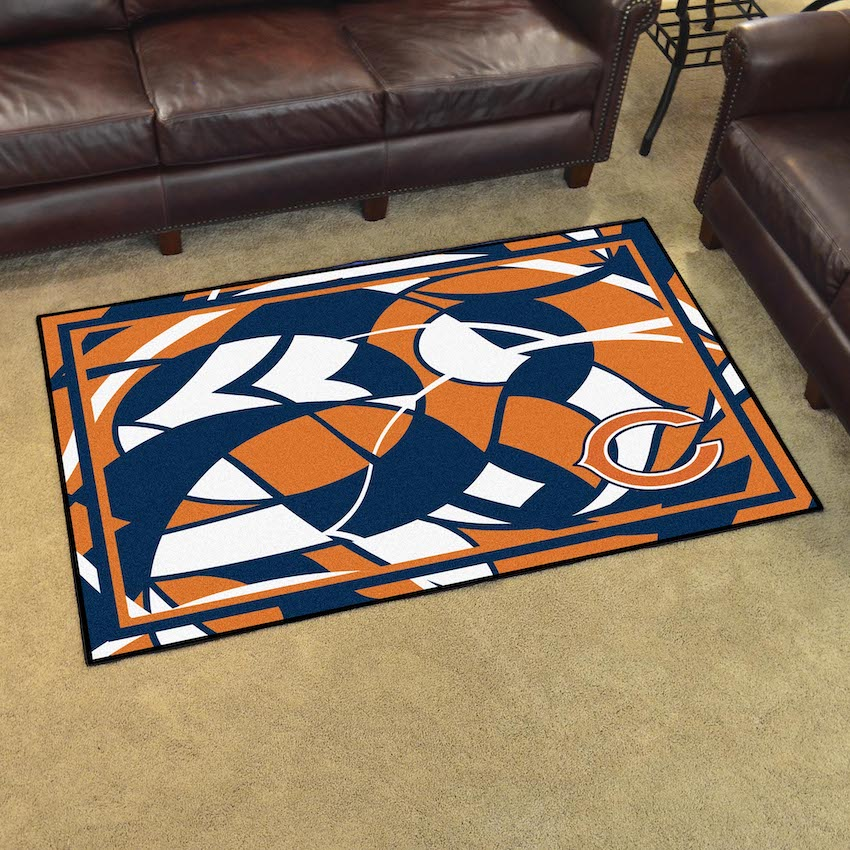 Chicago Bears 4x6 Quick Snap Area Rug